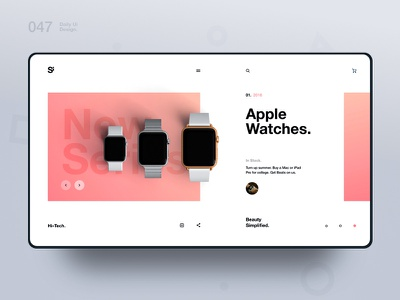 Si™ Daily Ui Design 047 clean photography typography webdesign uxdesign ux uiux uidesign ui minimalism minimal interface graphicsdesign designinspiration dailydesign