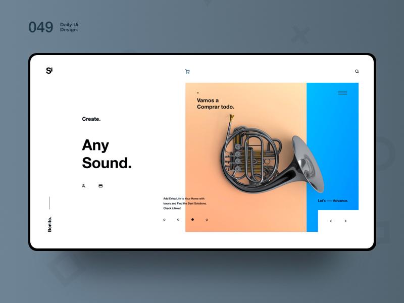 Si™ Daily Ui Design 049 clean typography webdesign uxdesign ux uiux uidesign ui minimalism minimal interface graphicsdesign designinspiration dailydesign