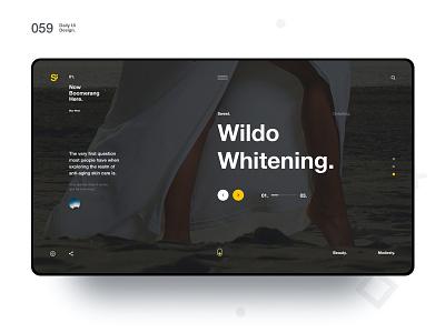 Si™ Daily Ui Design 059 clean typography webdesignq uxdesign ux uiux uidesign ui minimalism minimal interface graphicsdesign designinspiration dailydesign