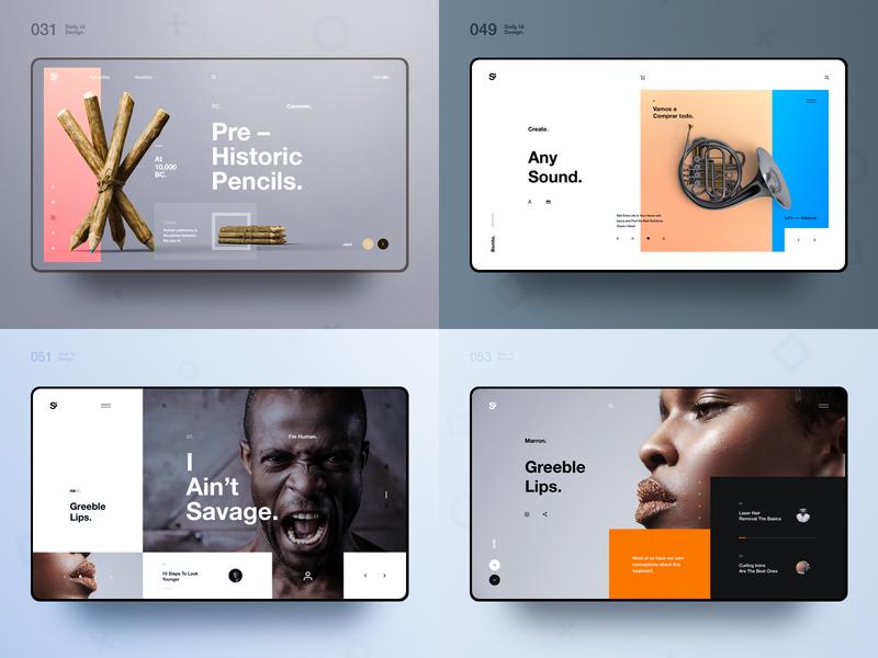 Si™ Dailies – Best Shots of 2018 webdesign uiux uidesign minimalism minimal interface designinspiration dailydesign