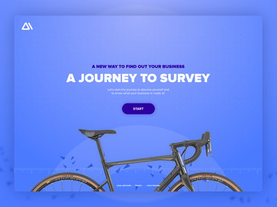 Immersive Survey Website webdesign web design concept website immersive bike cycling blue journey survey questionnaire gamification achievement interface design art direction unusual full screen