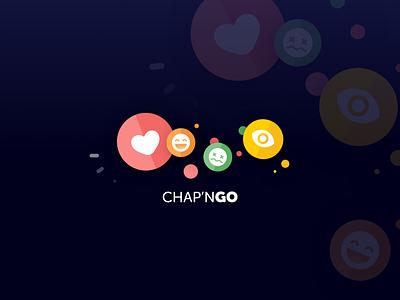 Chap'nGo Logotype share sharing review like button social network social mobile ui ui branding illustration logo app design art direction