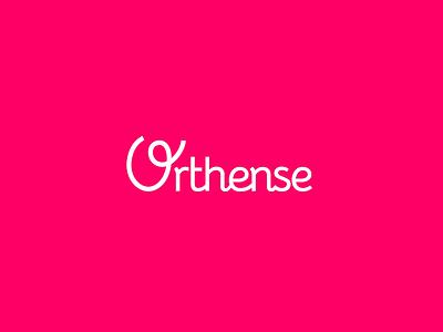 Orthense Logo fluid line art direction illustrator vector care health pink after effects motion animation branding design identity logo