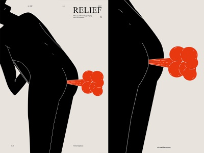 Relief relief office modern figure butt fart man poster challenge poster a day poster art lines poster laconic illustration composition abstract minimal