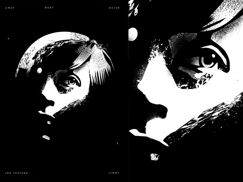 Away portraits splash ink girl illustration face astronaut moon portrait illustration portrait art portrait poster a day poster art lines poster laconic illustration composition abstract minimal