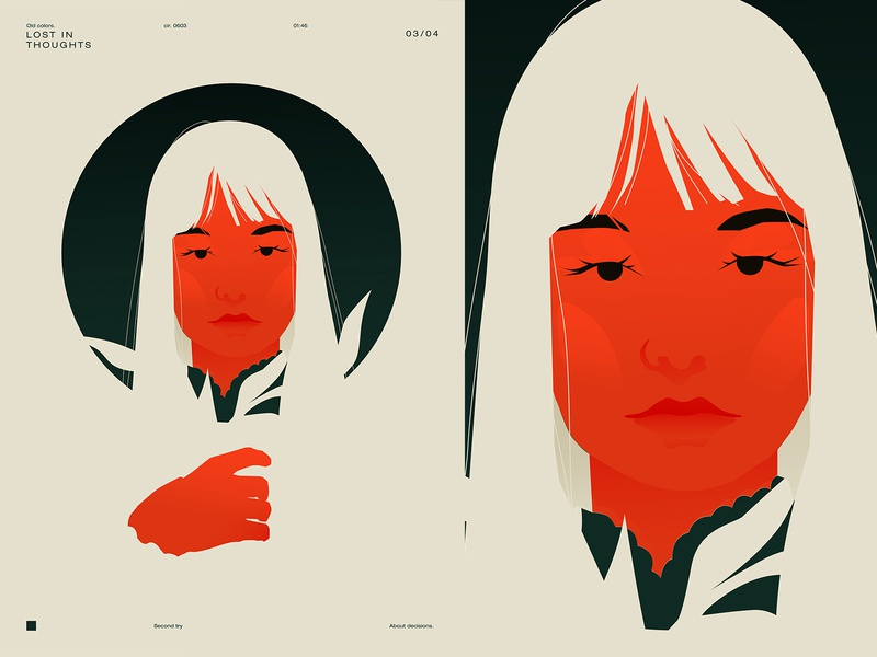 Lost on you girl illustration portrait illustration portrait girl poster art lines poster laconic illustration composition abstract minimal