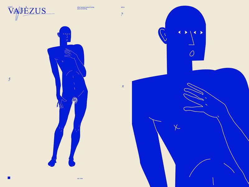 Vajezus conceptual illustration concept man illustration man poster art lines poster laconic illustration composition abstract minimal