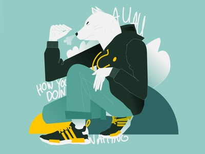 Doggy sneakers dog illustration animal illustration dog animal poster art lines poster laconic illustration composition abstract minimal