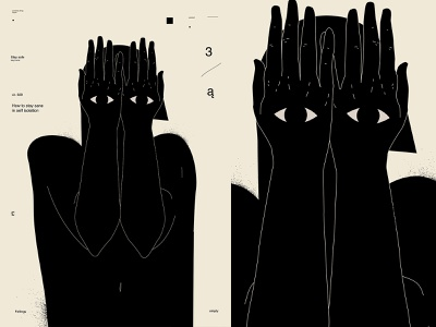 Nowhere to hide depression covid-19 covid19 eye hands man illustration man poster art lines poster laconic illustration composition abstract minimal
