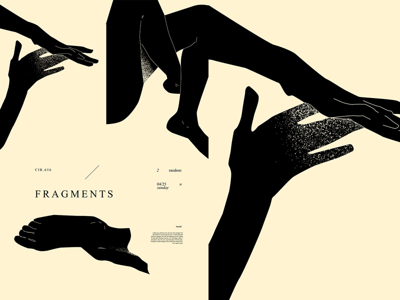 Fragments grunge texture compositions feet hands layout fragment poster art lines poster laconic illustration composition abstract minimal