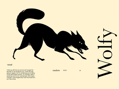 Wolf cut out cutout wolf illustration monochrome wolf animal illustration poster art lines poster laconic illustration composition abstract minimal