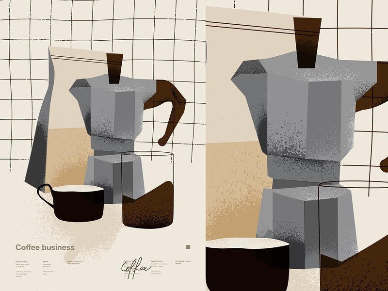 Coffee business coffee bag coffee cup moka pot espresso coffee poster art lines poster laconic illustration composition abstract minimal