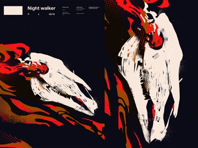 Nightwalker animal skull polka dots dots smokestack skull art ink grunge grunge textures smokes horse skull horse skull poster art lines poster laconic illustration composition abstract minimal