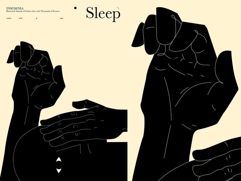 No Sleep insomnia deformation bulky sleep handmade poster art lines poster laconic illustration composition abstract minimal