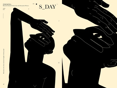 Looking for the rain sunny day shadow rain man hand lines poster laconic illustration composition abstract minimal