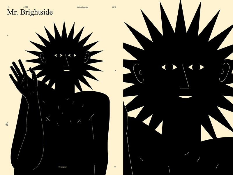 Mr. Brightside conceptual illustration conceptual sun smile eye hand hello poster art lines poster laconic illustration composition abstract minimal
