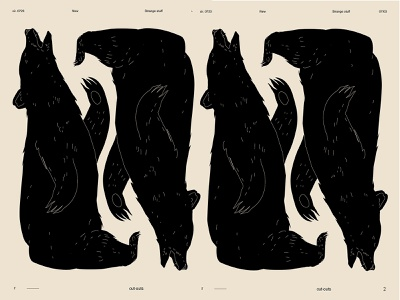 To bear bear animal pattern animal lines poster art poster laconic illustration composition abstract minimal