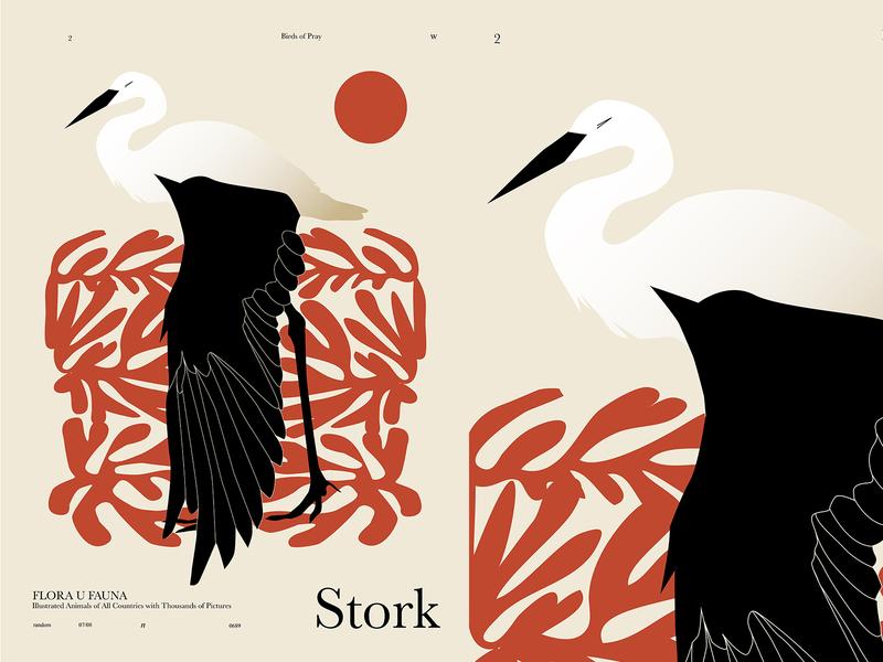 Stork 2 bird illustration bird abstract pattern floral animal stork form layout lines poster laconic illustration composition abstract minimal