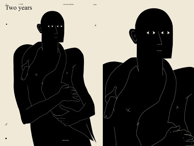 Two years everyday everydayposter figure drawing swain figure man poster art lines poster laconic illustration composition abstract minimal
