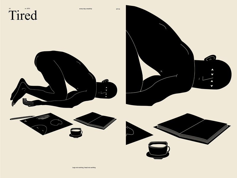 Tired man illustration no energy tired figure illustration figure man utd fragment poster a day poster art lines poster laconic illustration composition abstract minimal