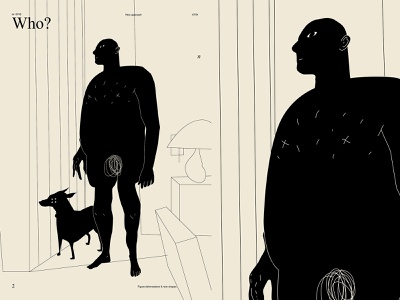 Who character illustration charecter design character who room dog man poster art lines poster laconic illustration composition abstract minimal