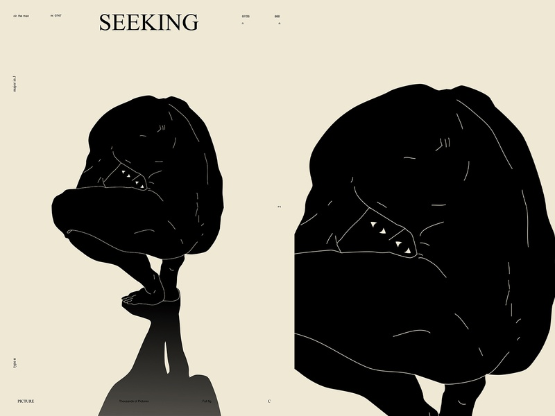 Seeking seeking seek hide and seek conceptual illustration figure illustration figure drawing figure lines poster laconic illustration composition abstract minimal