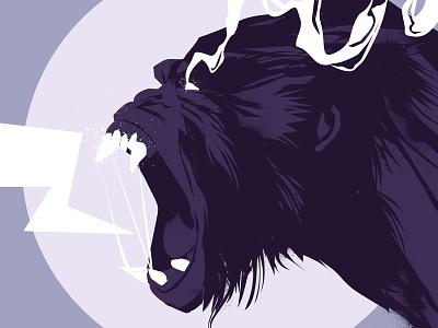 Gorilla vector illustration angry gorilla animal illustration animal fragment poster art lines poster laconic illustration composition abstract minimal