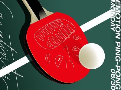 Emotion Ping Pong angry balls conceptual illustration emotions ball ping pong racket layout lines poster laconic illustration composition abstract minimal