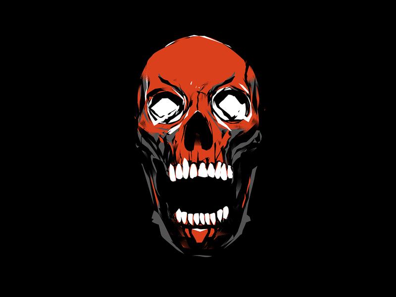 Just a skull skull illustration skull art linework grunge texture textures screaming skull fragment poster art lines poster laconic illustration composition abstract minimal