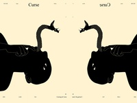 Curse cursing curse snake dualmeaning conceptual illustration conceptual man poster art lines poster laconic illustration composition abstract minimal
