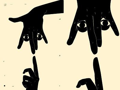 Late Nights hand illustrated eye illustration eyeball eye hand illustration hands poster art lines poster laconic illustration composition abstract minimal