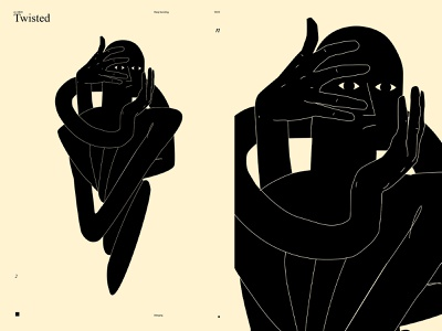 Twisted mood emotion conceptual illustration dualmeaning twisted twist hand poster a day poster art lines poster laconic illustration composition abstract minimal
