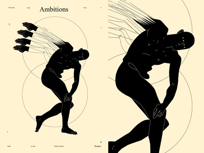 Ambitious ambition ambitious conceptual illustration dual meaning conceptual figure illustration figure sculpture greek sculpture poster art lines poster laconic illustration composition abstract minimal