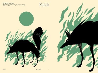 Fields poster design layout flames cut out wolf illustration wolf poster art lines poster laconic illustration composition abstract minimal