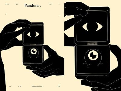 Pandora pandora eye illustration eyeball eye poster art lines poster laconic illustration composition abstract minimal