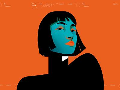 Portrait girl illustration woman illustration woman portrait girl portrait portrait illustration portrait poster art poster laconic illustration composition abstract minimal