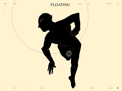 Floating silhouette man conceptual illustration dualmeaning monochrome figure illustration figure poster art lines poster laconic illustration composition abstract minimal