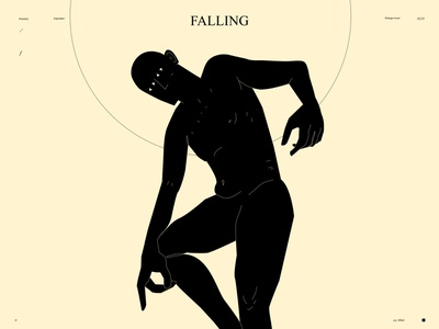 Falling falling naked conceptual piece pose figure illustration figure poster art lines poster laconic illustration composition abstract minimal