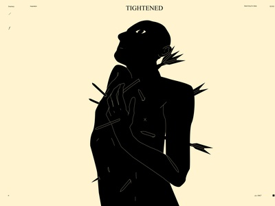 Tightened dualmeaning conceptual illustration tightened scared arrows figure illustration figure poster art lines poster laconic illustration composition abstract minimal