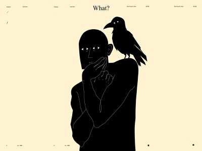 What conceptual illustration conceptual art conceptual figure illustration figure crow poster art lines poster laconic illustration composition abstract minimal
