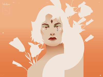 Upbeat woman portrait portrait illustration portrait woman illustration gil illustration girl poster a day poster art lines poster laconic illustration composition abstract minimal