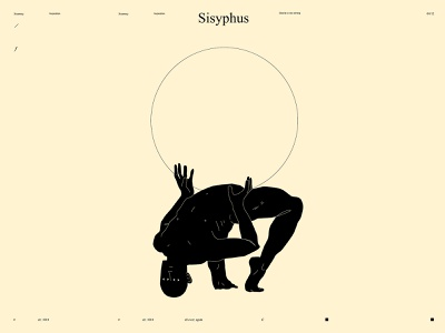 Sisyphus conceptual art dualmeaning conceptual illustration stoneofsisyphus sisyphus minimalism figure illustration figure linework form laconic illustration composition abstract minimal