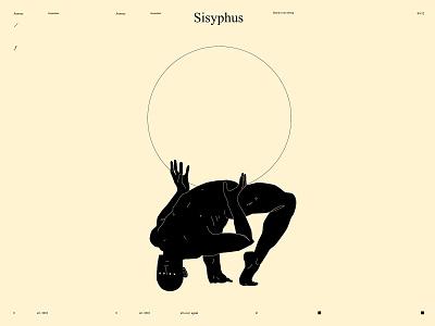Sisyphus conceptual art dualmeaning conceptual illustration stoneofsisyphus sisyphus minimalism figure illustration figure linework form laconic illustration composition abstract minimal