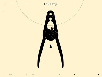 Last drop dualmeaning conceptual illustration figure illustration figures juice drop squeeze figure poster art lines poster laconic illustration composition abstract minimal