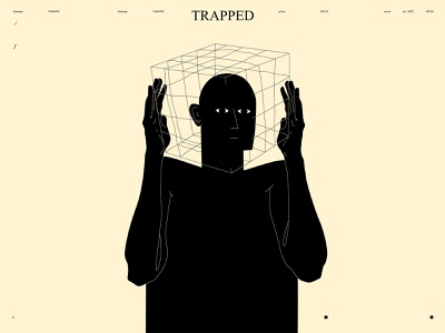 Trapped trapped trap cage dualmeaning duality figure illustration figure poster a day poster art poster lines laconic illustration composition abstract minimal