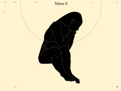 Minor E girl figure figure illustration figure girls poster a day poster art lines laconic illustration composition abstract minimal poster