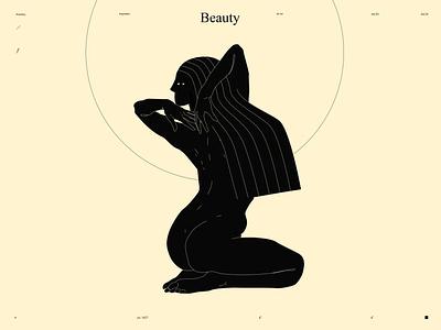 Beauty minimalistic art woman beauty figure illustration figure minimalistic lines laconic illustration composition abstract minimal poster