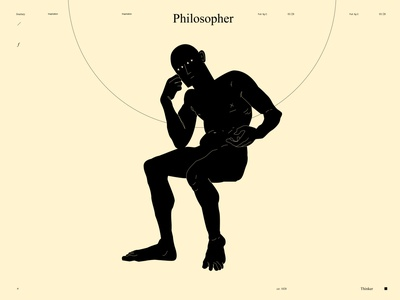 Philosopher emotional dualmeaning conceptual illustration thinker figure drawing figure illustration figure lines poster laconic illustration composition abstract minimal