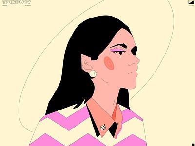 Tomboy tomboy girl portrait girl illustration girl character girl poster art lines poster laconic illustration composition abstract minimal