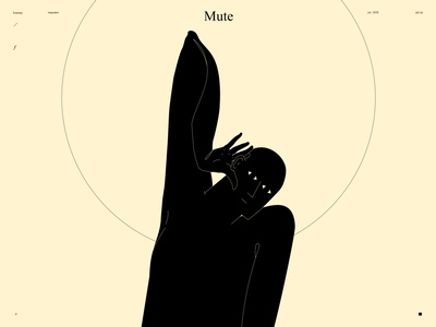 Mute hearing mute ear illustration hand ear figure illustration figure man poster art lines poster laconic illustration composition abstract minimal